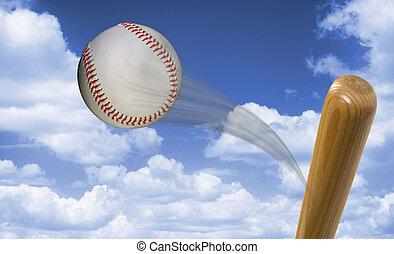 Fast Baseball Hit.