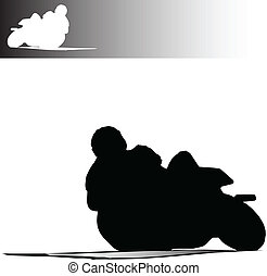 fast bike vector silhouettes