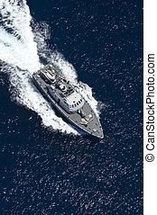 fast boat in mediterranean sea