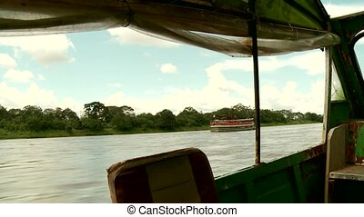 Fast Boat On Amazon River