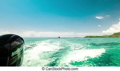 fast boat ride in Mauritius