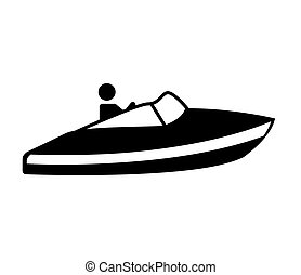 fast boat silhouette icon vector illustration design