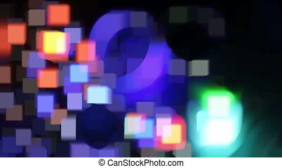 fast bokeh movie, abstract background - Abstract blurred...