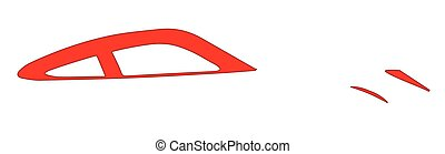 Fast Car Abstract - Abstract fast car in silhouette over...