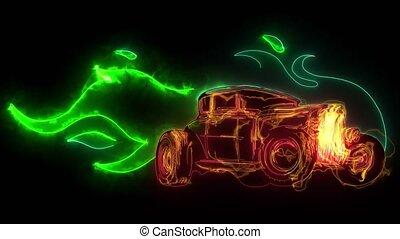 Fast car flames video desgn art - Fast car flames video ...