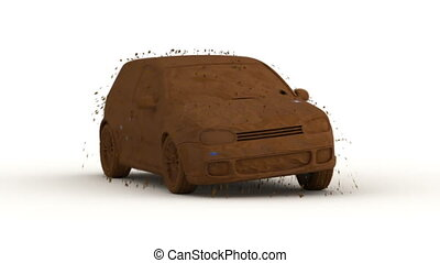 fast car wash, 3d animation