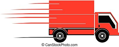 Fast cargo delivery truck vector