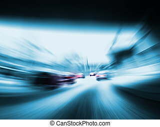 fast cars on highway without speed limit