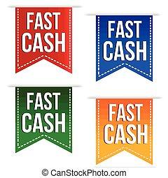 Fast cash banner design set