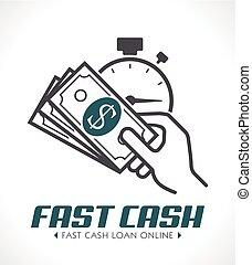 Fast cash concept - quick loan concept