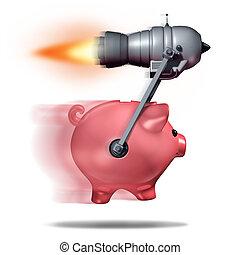 Fast Cash - Fast cash concept and business success symbol as...
