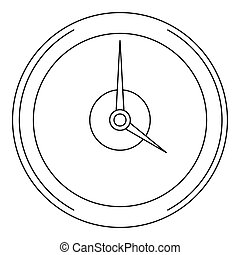 Fast clock icon, outline style.