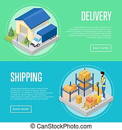 Fast delivery and freight shipping set - Fast delivery and...