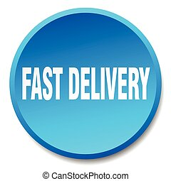 fast delivery blue round flat isolated push button