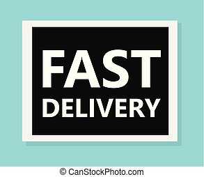 fast delivery concept- vector illustration