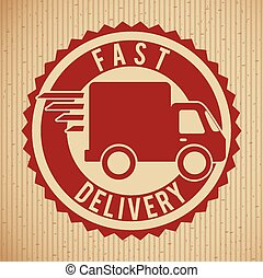 fast delivery design, vector illustration eps10 graphic