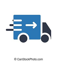 Fast Delivery glyph color icon
