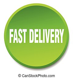 fast delivery green round flat isolated push button
