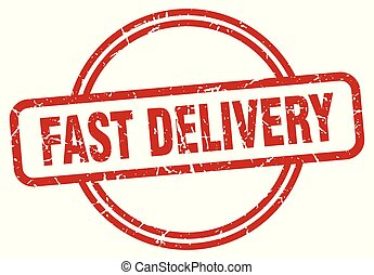 fast delivery grunge stamp - fast delivery round vintage...