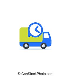 fast delivery icon on white, eps 10 file, easy to edit