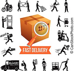 Fast Delivery Illustration - Fast delivery service concept...