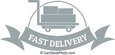 Fast delivery logo vector logo design element with business card fast delivery logo simple gray style reheart Image collections