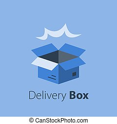 Fast delivery, open box, shipping order, distribution ...