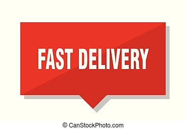 fast delivery red tag - fast delivery red square price tag