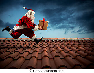 Fast delivery Santa Claus
