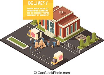 Fast Delivery Service Concept