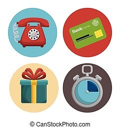 fast delivery set icons