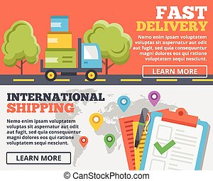 Fast delivery, shipping concept