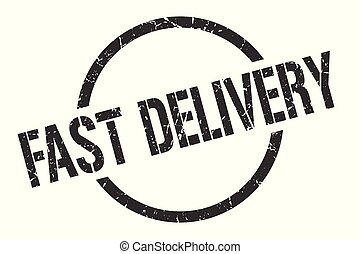 fast delivery stamp - fast delivery black round stamp