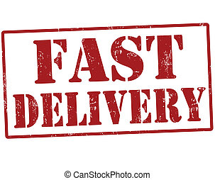 Fast delivery stamp - Grunge fast delivery rubber stamp,...