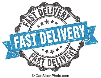 fast delivery stamp. sign. seal