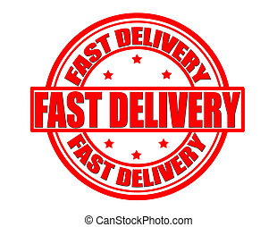 Fast delivery - Stamp with text fast delivery inside, vector...