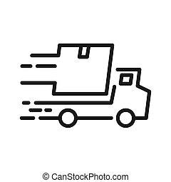 fast delivery vector illustration design
