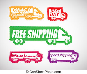 Fast delivery vector stickers