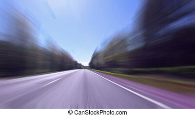 Fast Driving on the Highway