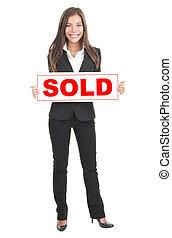 fast egendom sålde, medel, underteckna, holdingen