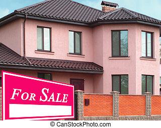 fast egendom sålde, realisation signera, hem