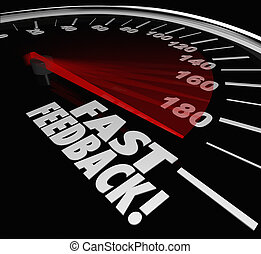 Fast Feedback Words Speedometer Instant Answer Reply...