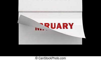 Fast flipping calendar pages with a