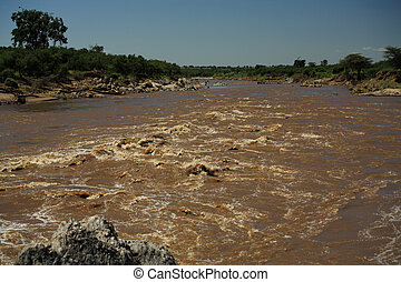 Fast flowing Mara River