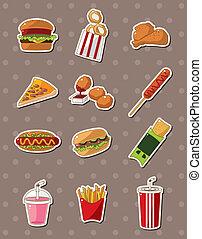 fast food, adesivi
