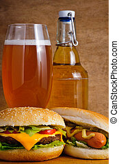 fast food and beer
