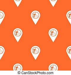 Fast food and restaurant map pointer pattern seamless