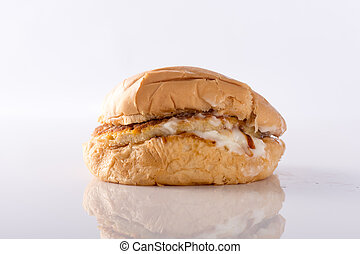Fast food burger isolated against white background