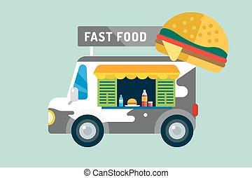 Fast food car van
