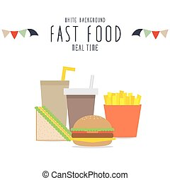 Fast food collection.
